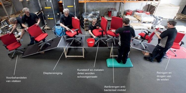 Reiniging Interstuhl Bureaustoelen