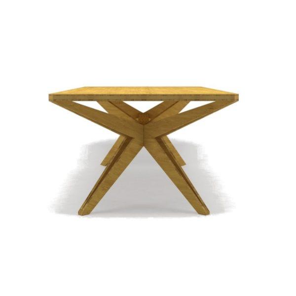 Cantor Kruis houten tafel